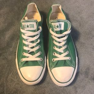 Converse All Star Green Low Top Shoes (Unisex)